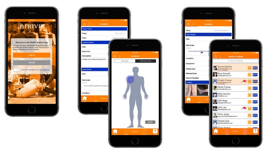 Sideline app images